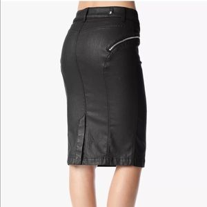 7 For All Mankind Skirts - 7FAM High Waist Coated Denim Pencil Skirt
